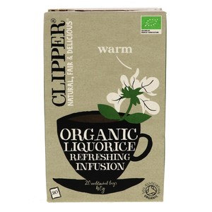 Clipper Organic Liquorice Refreshing Infusion Tea Bag 20pcs