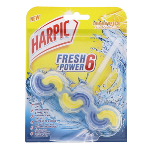 Harpic Fresh Power 6 Block Summer Breeze 39g