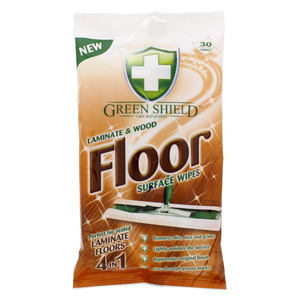 Green Shield Laminate And Wood Floor Surface Wipes 30Pcs