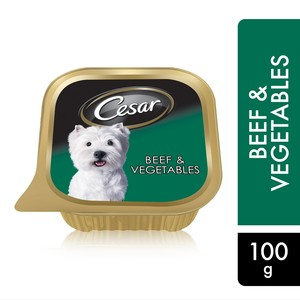Cesar Beef and Vegetables Wet Dog Food 100g