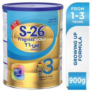 Wyeth S26® Progress Gold Stage 3 With Biofactors System Premium Milk Powder For Toddlers 900g