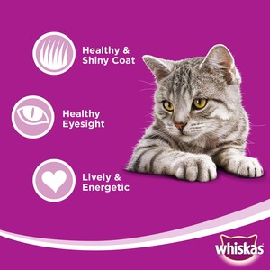 Whiskas Ocean Fish in Jelly, Pouch Multipack 85g x 10 +2free