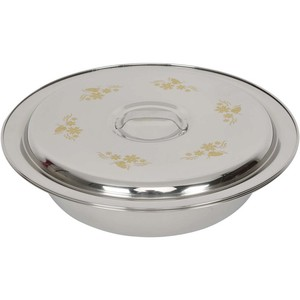 Chefline Stainless Steel Round Basin With Lid 40cm