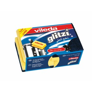Vileda Glitzi Sponge Scourer Dish Washing High Foam 2pcs
