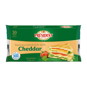 President Sandwich With Cheddar Cheese  20 Slices 400g