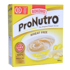 Bokomo ProNutro Banana Cereal Wheat Free 500g