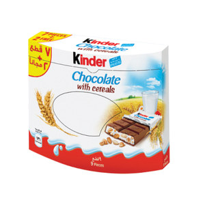 Kinder Chocolate With Cereals 9 x 23.5g