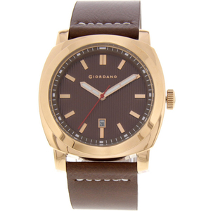 Giordano Mens Analog Watch Brown Strap With Brown Dial 1789-06