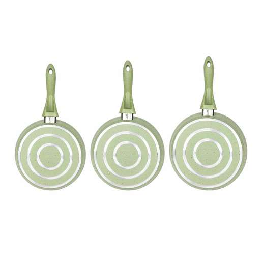 Bonera Granite Frypan Set 3pcs Assorted Color