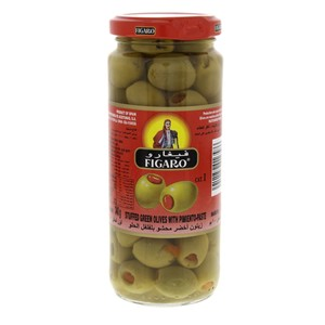 Figaro Stuffed Green Olives With Pimiento-Paste 200g