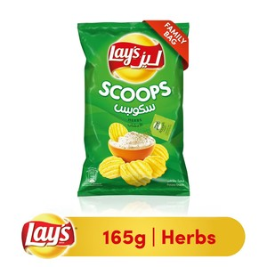 Lays® Scoops Herb Potato Chips 165g