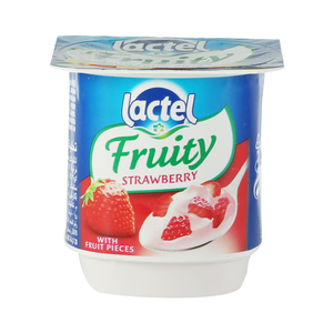 Lactel Fruity Yoghurt Dessert Strawbery125g