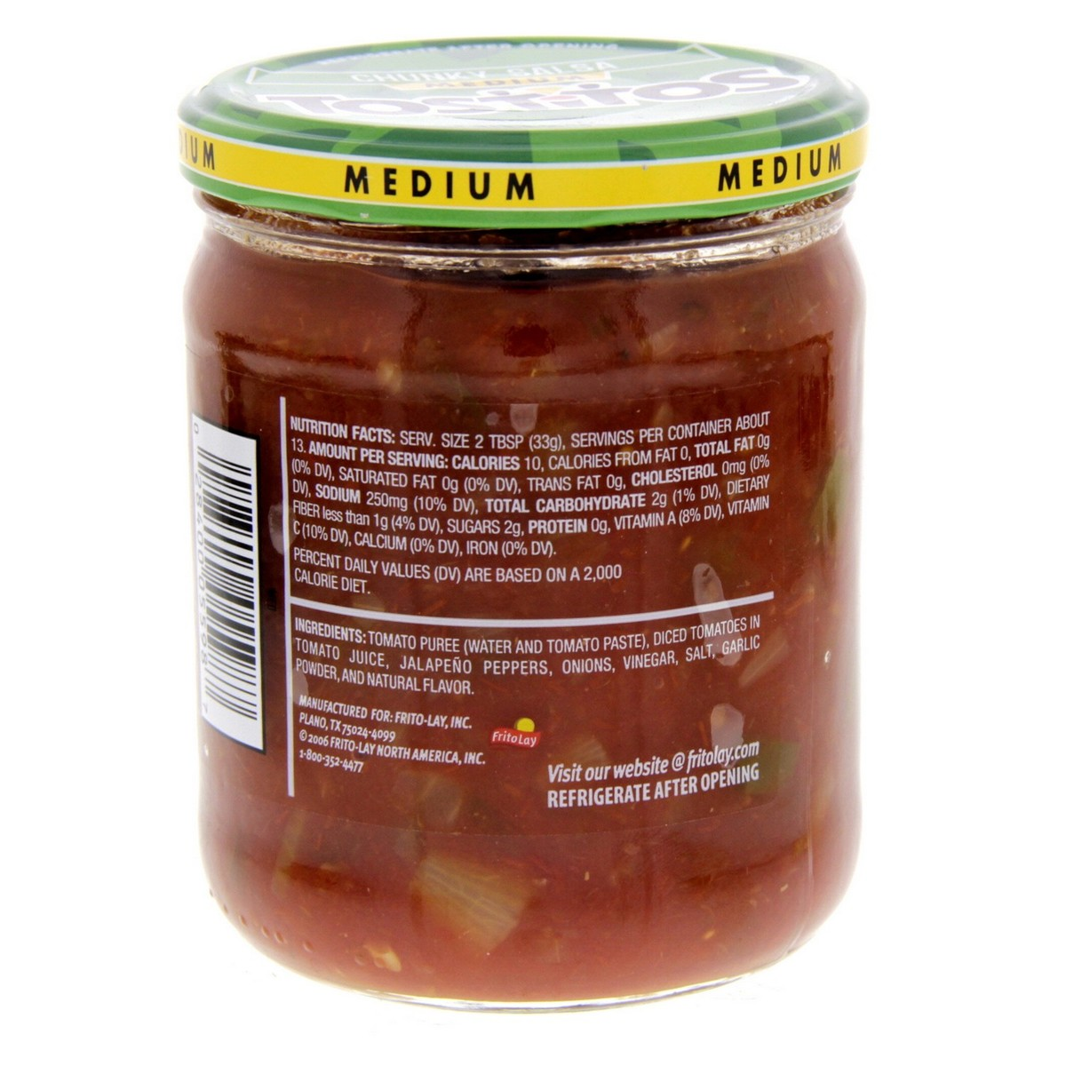 Buy Tostitos Chunky Salsa Medium 439 4g - Mexican Foods