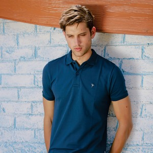 Eten Men's Basic Polo Tees Short Sleeve Dark Denim