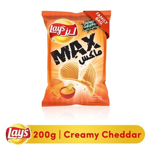 Lays® Max Creamy Cheddar Potato Chips 200g