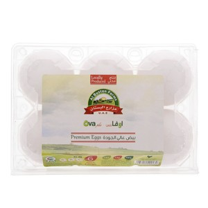 Ova Premium White Eggs Large 6pcs