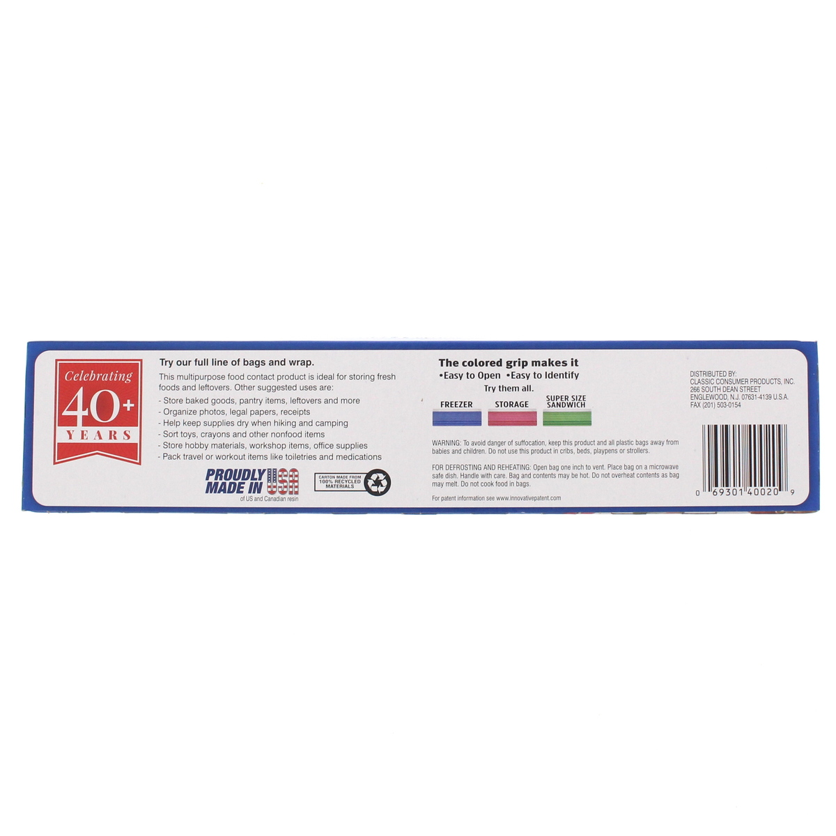 Clic Snap Seal Snack Bag
