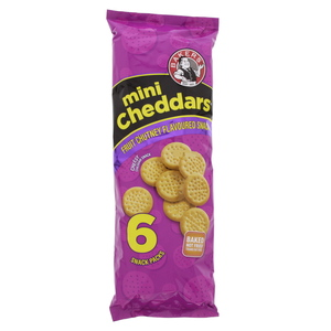 Bakers Mini Chedders Fruit Chutney Flavoured Snacks 33g