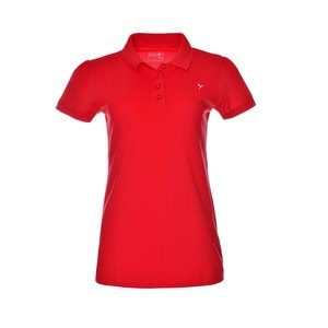 Eten Ladies Basic Polo T-Shirt Red