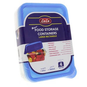 Lulu Food Storage Containers 64oz 4pcs