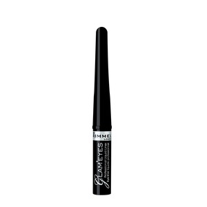 Rimmel London Glameyes Professional Liquid Liner 001 Black Glamour A Very Dark Black Shade 1pc
