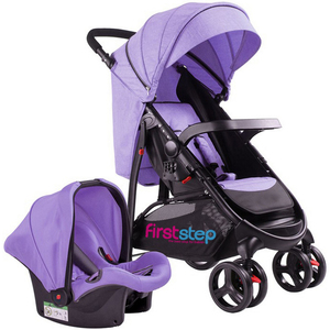 First Step Baby Stroller With Car Seat 6798ZY Purple