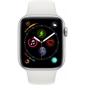 Apple Watch Series 4 - GPS 44mm Silver Aluminium Case with White Sport Band