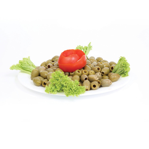 Greek Green Pitted Olives Jumbo 300g Approx. Weight