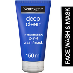 Neutrogena Facial Wash Deep Clean Invigorating 2-in-1 Wash/Mask 150ml