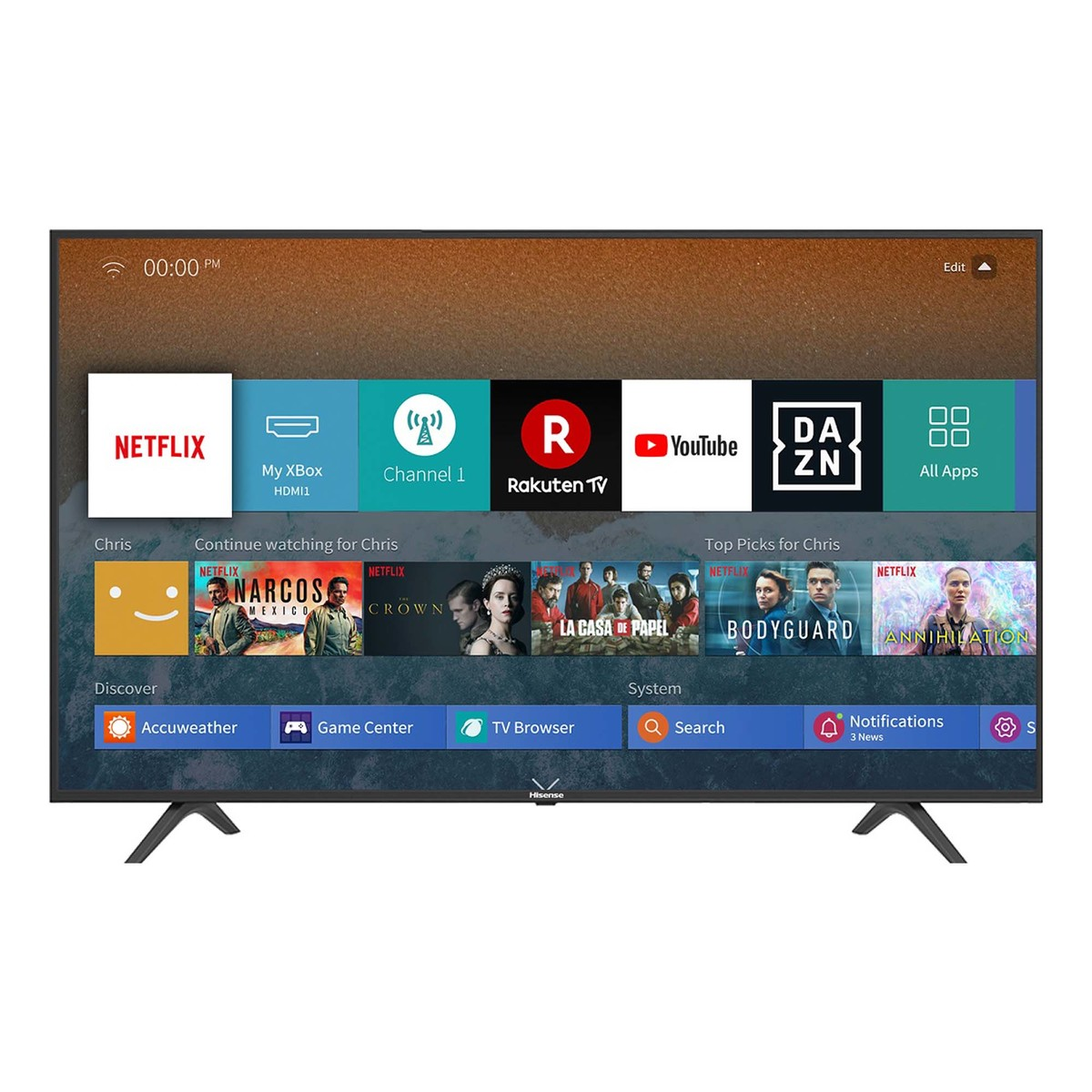 Buy Hisense Ultra Hd Smart Led Tv 55b7100uw 55 Online Lulu