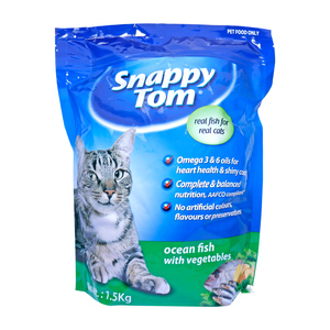 Snappy Tom Cat Food Ocean Fish with Vegetables 1.5kg