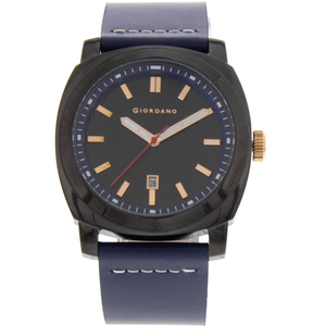 Giordano Men's Analog Watch Blue Strap With Black Dial - 1789-08