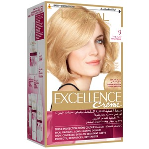 L'Oreal Paris Excellence Creme 9 Very Light Blonde Hair Color 1 Packet