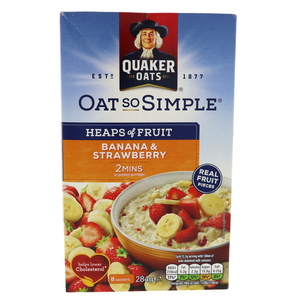 Quaker Oat So Simple Banana And Strawberry 289g