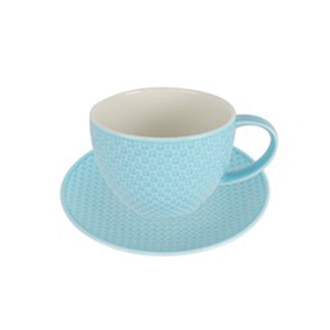 Qualitier Cup & Saucer Blue 250cc