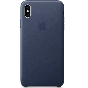 Apple iPhone XS Max Leather Case Midnight Blue