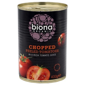 Biona Organic Chopped Peeled Tomatoes 400g