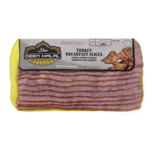 Deen Halal Smoked Turkey Breakfast Slices 340g