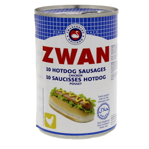 Zwan 10 Hotdog Sausages Chicken 200g