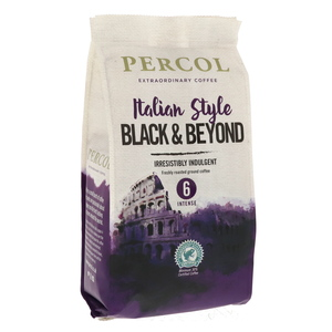 Percol Italian Style Black & Beyond Freshly Roasted Ground Coffee 200g