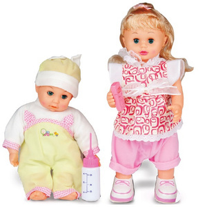 Battery Operated Baby Doll With Music Assorted 1Pc
