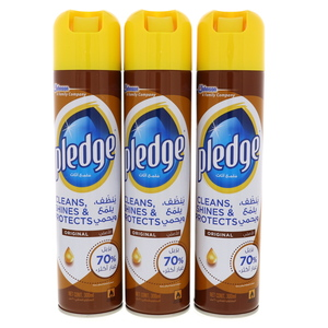 Pledge Furniture Polish 3 x 300ml