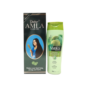 Dabur Amla Hair Oil 500ml + Vatika Shampoo 200ml
