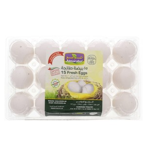 Al Maraba Fresh Eggs Large 15pcs
