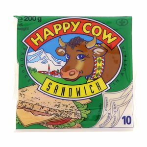 Happy Cow Sandwich Processed Cheese slices 200g