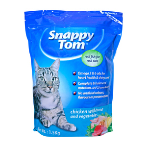 Snappy Tom Cat Food Chicken with Tuna & Vegetable 1.5kg
