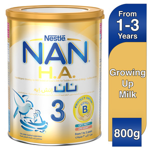 Nestle NAN H.A. Stage 3 From 1 to 3 years Hypoallergenic Growing Up Milk Fortified with Iron 800g