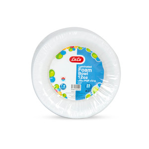 Lulu Laminated Foam Bowl 12oz 25pcs