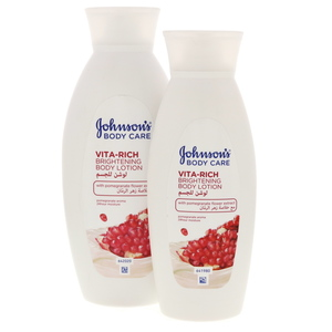 Johnson's Body Care Brightenining Body Lotion With Pomegranare Flower Extract 400ml + 250ml