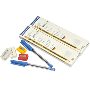Staedtler Noris HB Pencil 12's x 2+Ball Pen+2 Sharpener+2 Eraser